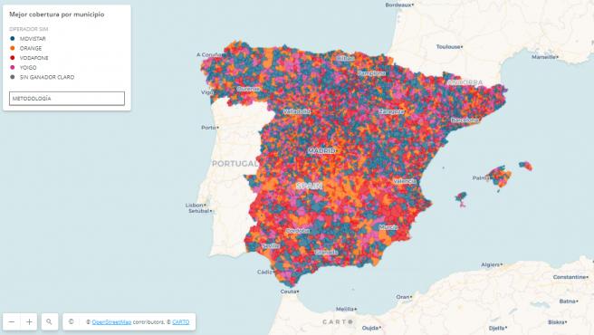 Movistar está en 4 de cada 10 municipios.