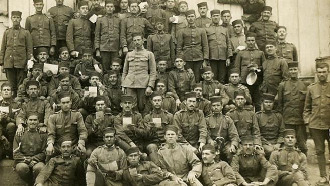 Soldados españoles en el protectorado de Marruecos