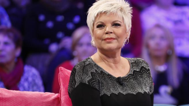 Terelu Campos, en un programa de televisión de 2019.