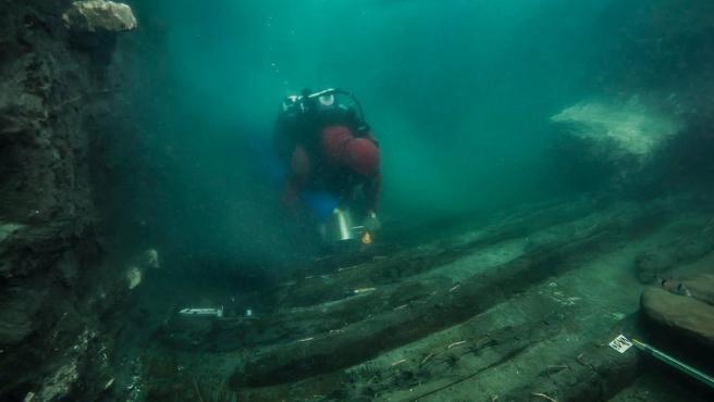 Un buque de guerra de 2.500 años se descubre en las ruinas de Heraklion.