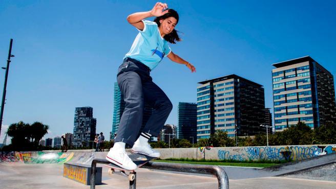 La skater Andrea Benítez