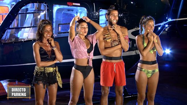 Olga Moreno, Lola, Gianmarco y Melyssa, finalistas de 'Supervivientes 2021'.