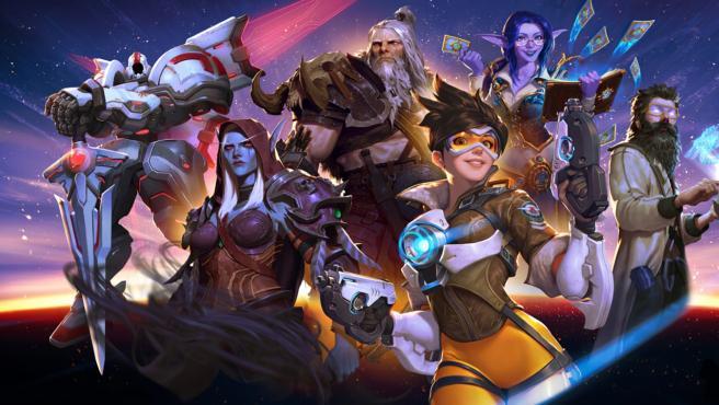 Personajes de varios juegos de Activision Blizzard.