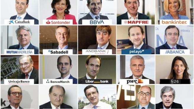 Top 20 de directivos más relevantes del sector financiero en España.