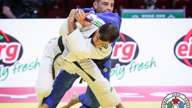 Fethi Nourine, durante un combate