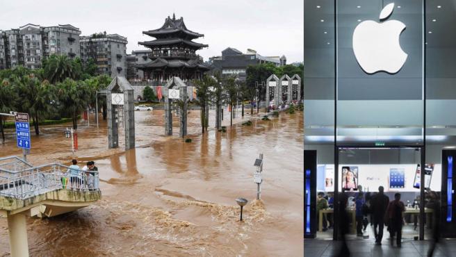 Apple donará parte de sus beneficios para ayudar a controlar las inundaciones del país.