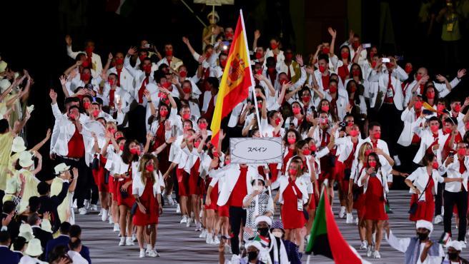 La delegación española desfila en los Juegos Olímpicos