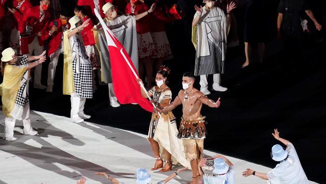Pita Taufatofua, abanderado de Tonga en los Juegos Olímpicos