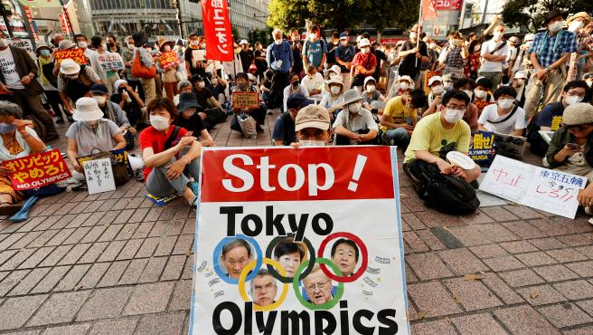Protestas contra la celebración de los Juegos Olímpicos de Tokio