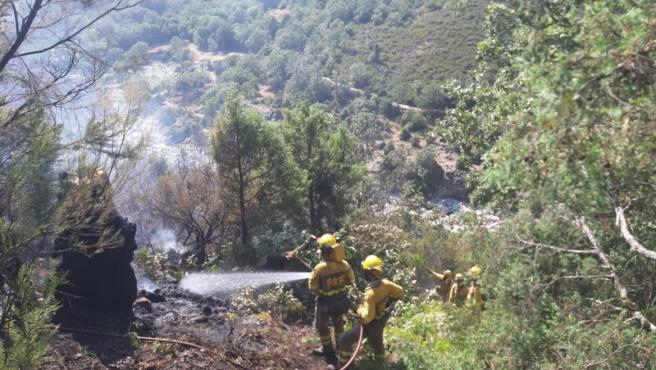 Extinguido el fuego que ha calcinado 5,7 hectáreas en Candeleda (Ávila) y controlado otro foco en la zona