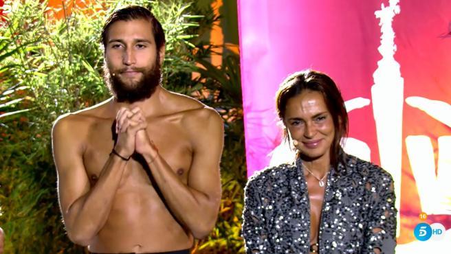 Gianmarco y Olga, en la final de 'Supervivientes 2021'.
