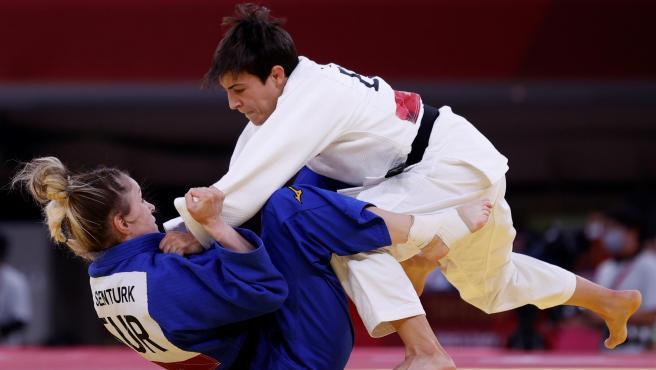 La judoca Julia Figueroa cayó en octavos de su estreno en Tokio.