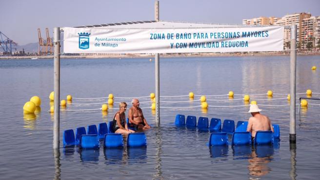 Las playas de la capital cuentan con siete zonas de baño para personas con discapacidad y movilidad reducida