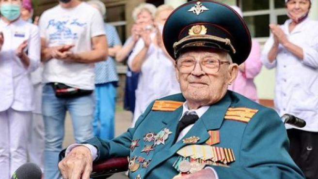 Nikolái Bagáyev tras ser dado de alta.