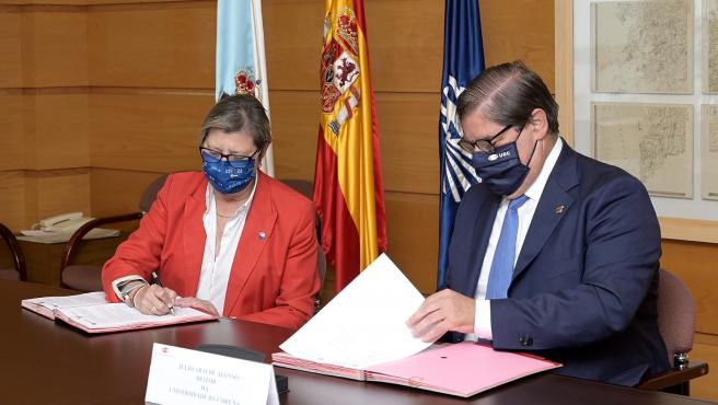 A Coruña A conselleira do Mar, Rosa Quintana, acompañada polo delegado territorial da Xunta na Coruña, Gonzalo Trenor, asinará un convenio de colaboración coa Universidade da Coruña. 19/07/2021 Foto: Moncho Fuentes
