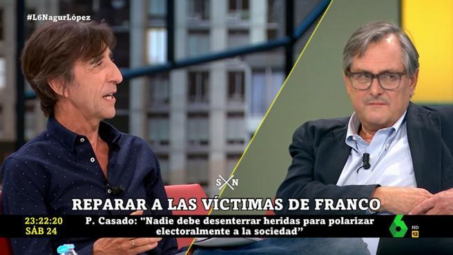 Benjamín Prado y Francisco Marhuenda, en 'La Sexta noche'.