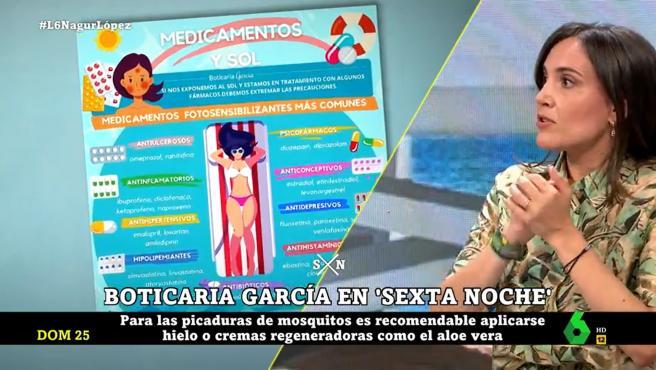 Boticaria García, en 'La Sexta Noche'.