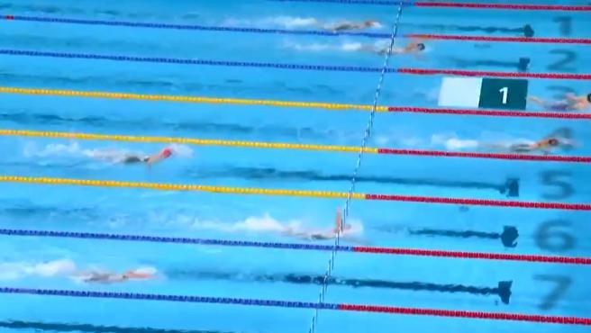 Última posta de la final de los 400m estilos con Belmonte rozando el bronce.