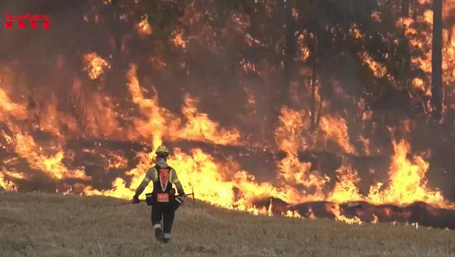 Incendio declarado en Tarragona.