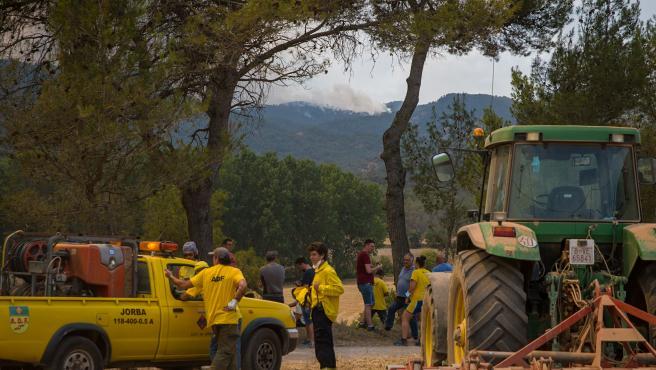 """Las próximas horas serán """"críticas"""" para el fuego en Santa Coloma de Queralt (Tarragona)"""