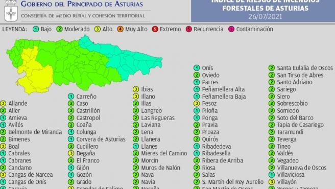 Nueve municipios del suroccidente estarán en riesgo alto de incendio este lunes