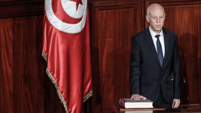 Imagen de archivo del presidente de Túnez, Kais Saied.