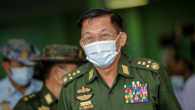 El líder de la junta militar birmana, el general Min Aung Hlaing.