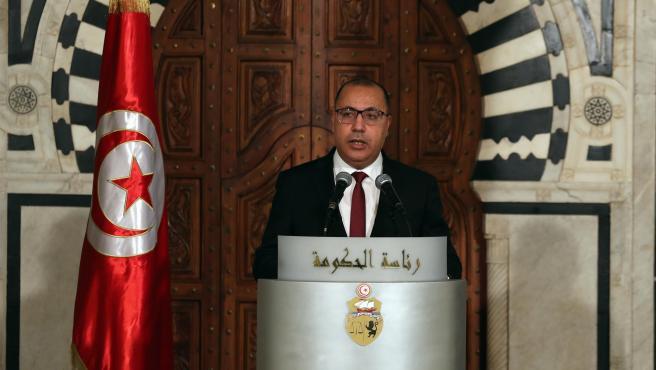 El primer ministro de Túnez, Hichem Mechichi, en enero de 2021.