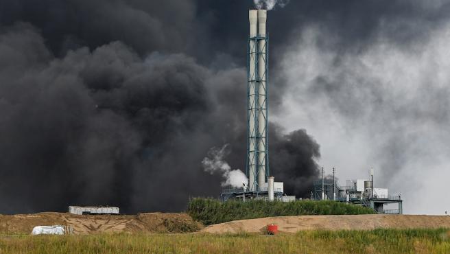 Explosión en la planta química de Bayer en Leverkusen, Alemania