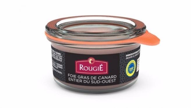 Foie gras de canard entier du sud ouest de la marca Rougie.