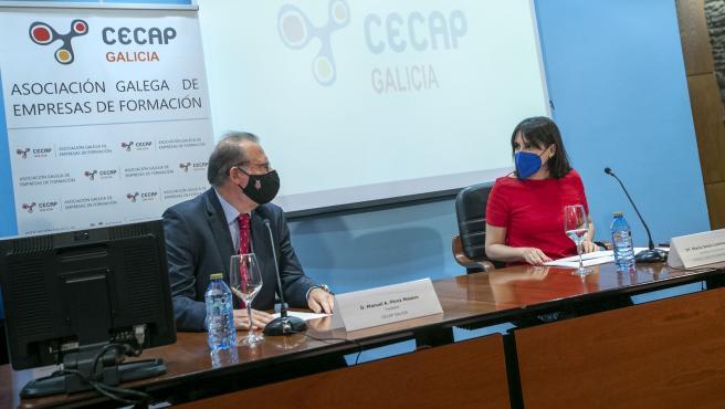 A conselleira de Emprego e Igualdade, María Jesús Lorenzana, intervén na asemblea xeral da Confederación Española de Empresas de Formación (Cecap).