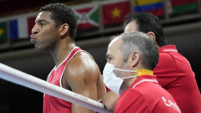El boxeador español Enmanuel Reyes, en los Juegos Olímpicos de Tokio