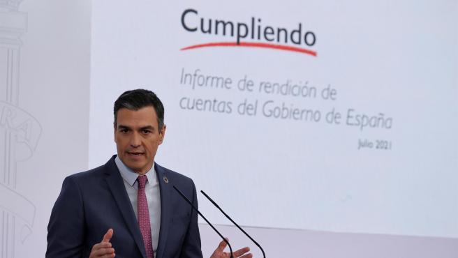 El presidente del Gobierno, Pedro Sánchez, este jueves.