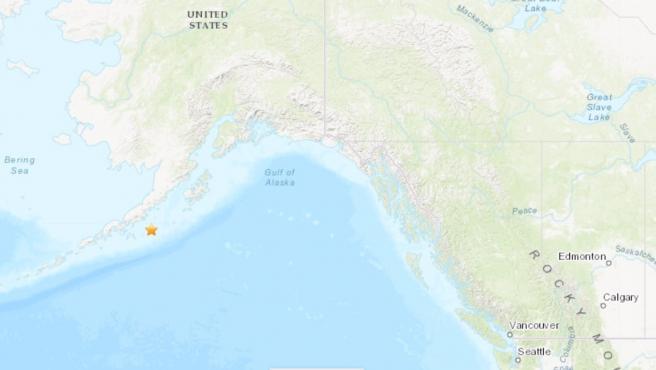 Terremoto de magnitud 8,2 frente a la costa de Alaska