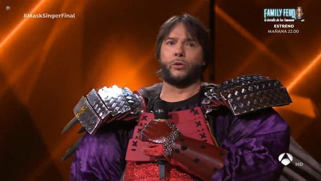Joaquín Cortés era Erizo en 'Mask singer'.