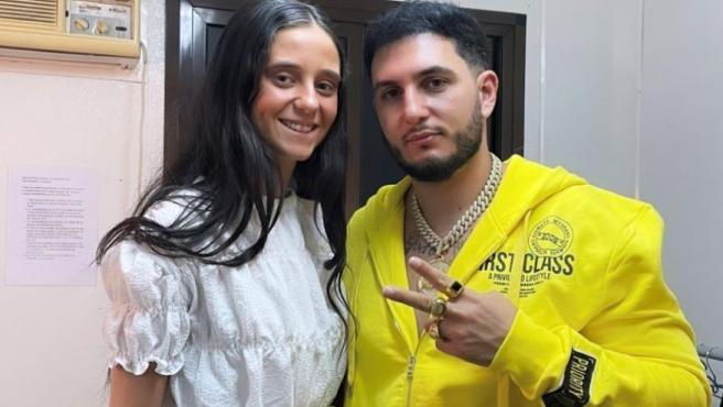 Omar Montes y Victoria Federica de Marichalar, durante su encuentro en el festival Starlite.