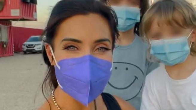 Pilar Rubio disfruta junto a sus hijos de un plan familiar en Madrid.