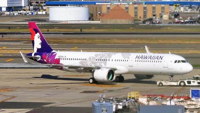 Imagen de un avión de Hawaiian Airlines.
