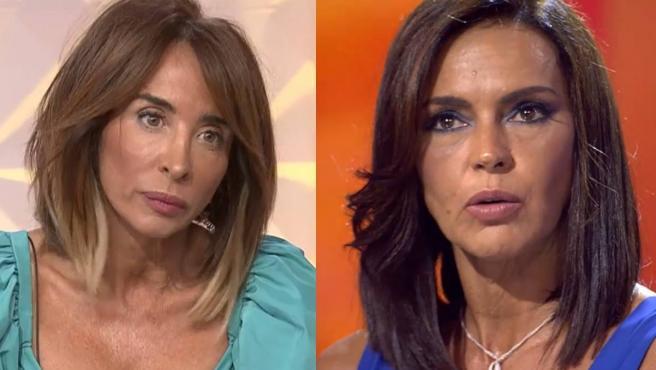 La presentadora de 'Socialité', María Patiño, y la ganadora de 'Supervivientes 2021', Olga Moreno.