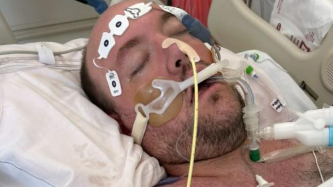 Michael Freedy, en la UCI poco antes de morir.