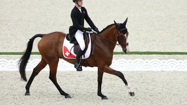 Robin Godel, a lomos de Jet Set en los Juegos Olímpicos de Tokio