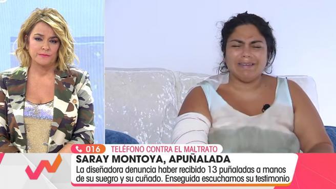 Saray Montoya habla en 'Viva la vida' tras haber sido apuñalada.