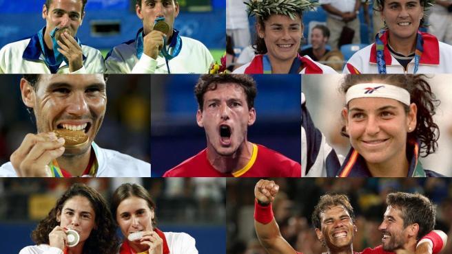 Medallistas olímpicos españoles en tenis.