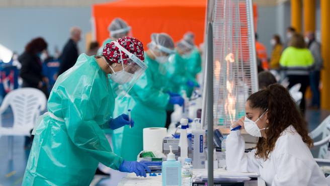 Cribados masivos de pruebas PCR en Sant Antoni. Ibiza