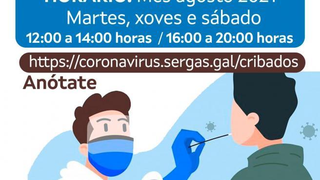 El área de Ferrol activa la cita previa para hacer test a mayores de 12 años y emitir certificados de vacunación