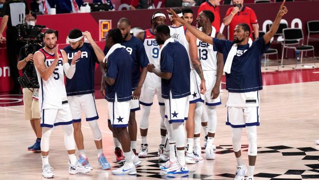 Los jugadores de la selección de Estados Unidos de baloncesto.