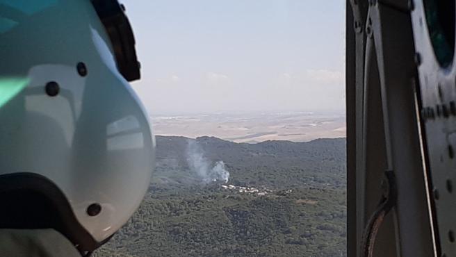 Incendios.- Estabilizado el incendio forestal declarado en un paraje de Trassierra en la capital