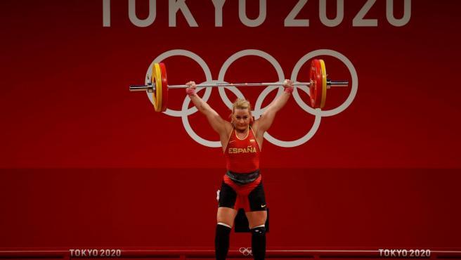 Lydia Valentín, en los Juegos Olímpicos de Tokio.