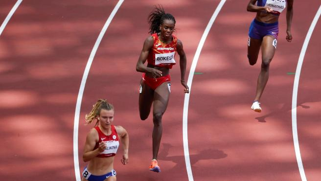 Aauri Bokesa, en su serie del 400m femenino.