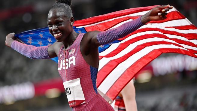Athing Mu, campeona olímpica de 800m.